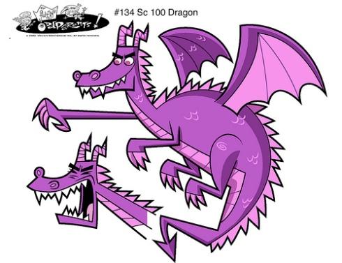 Dragón violeta